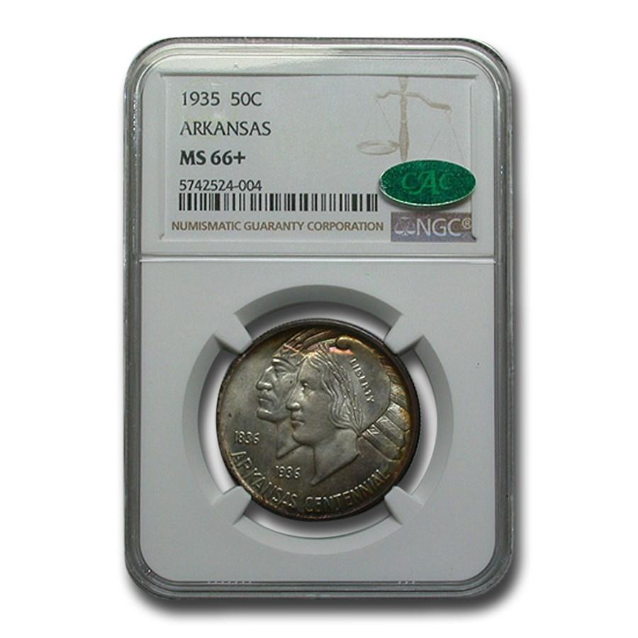 1935 Arkansas Centennial Commemorative Half Dollar MS-66+ NGC CAC