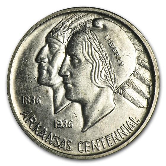 1935 Arkansas Centennial Half Dollar Commem BU