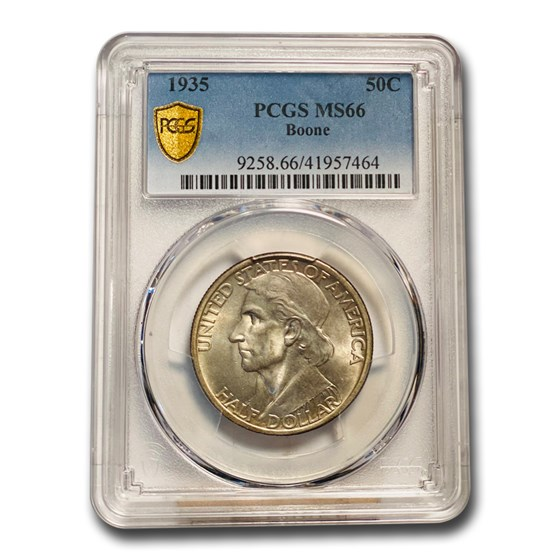 1935 Boone Half Dollar MS-66 PCGS