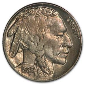 1935 Buffalo Nickel AU