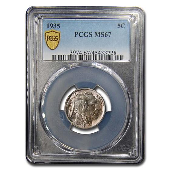 1935 Buffalo Nickel MS-67 PCGS
