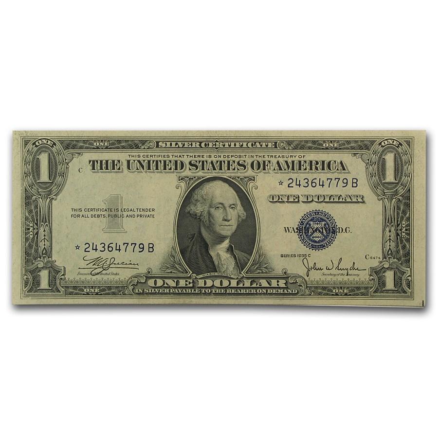 1935-C* $1.00 Silver Certificate AU (Star Note)