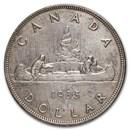 1935 Canada Silver Dollar George V Avg Circ