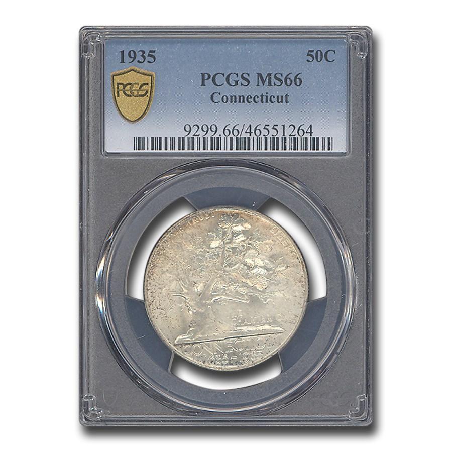 1935 Connecticut Half Dollar Commem MS-66 PCGS