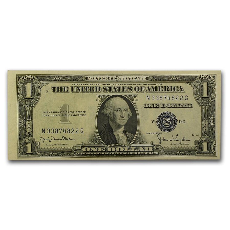 1935-D $1.00 Silver Certificate AU (Fr#1613N)