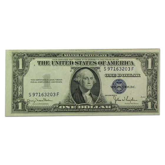 1935-D $1.00 Silver Certificate AU (Wide Seal)