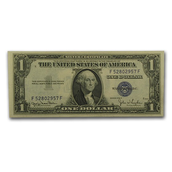 1935-D $1.00 Silver Certificate CU (Fr#1613N) Narrow Seal
