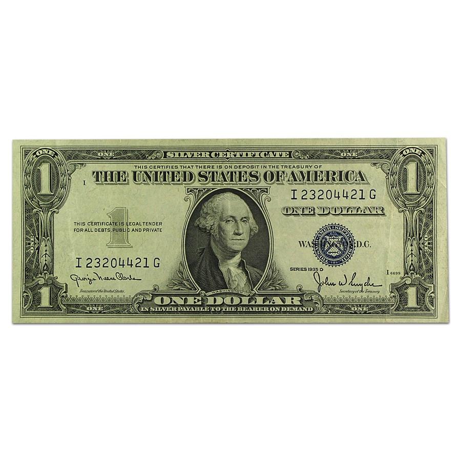 1935-D $1.00 Silver Certificate XF (Fr#1613N)