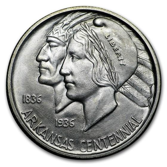 1935-D Arkansas Centennial Half Dollar Commem BU