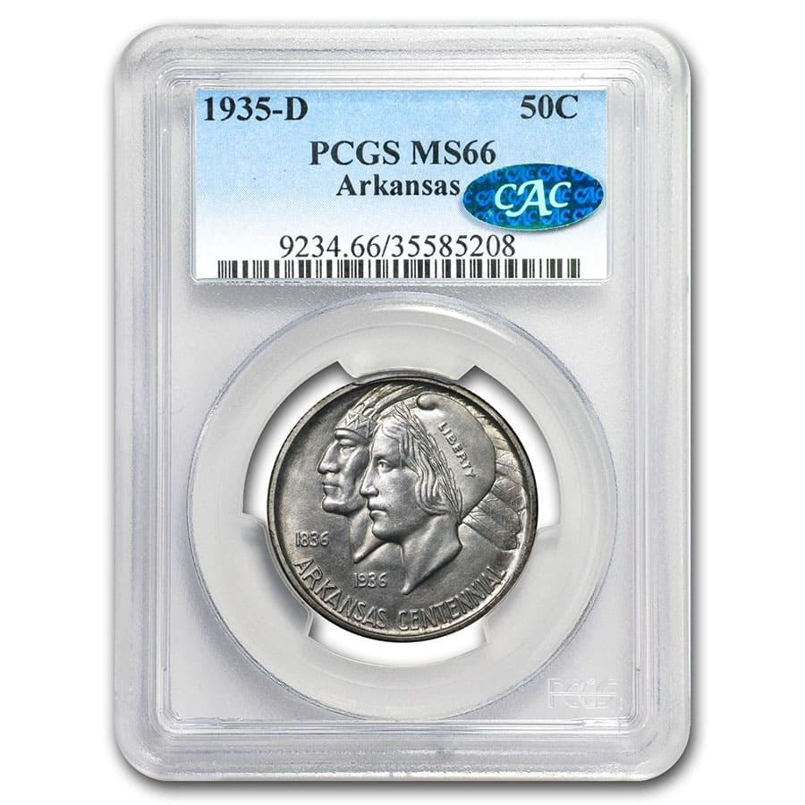 1935-D Arkansas Half Dollar MS-66 PCGS CAC
