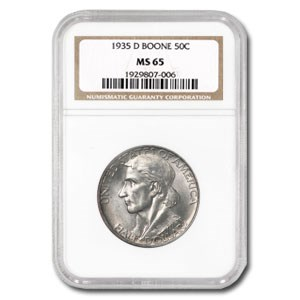 1935-D Boone Half Dollar MS-65 NGC (Rotated Reverse)
