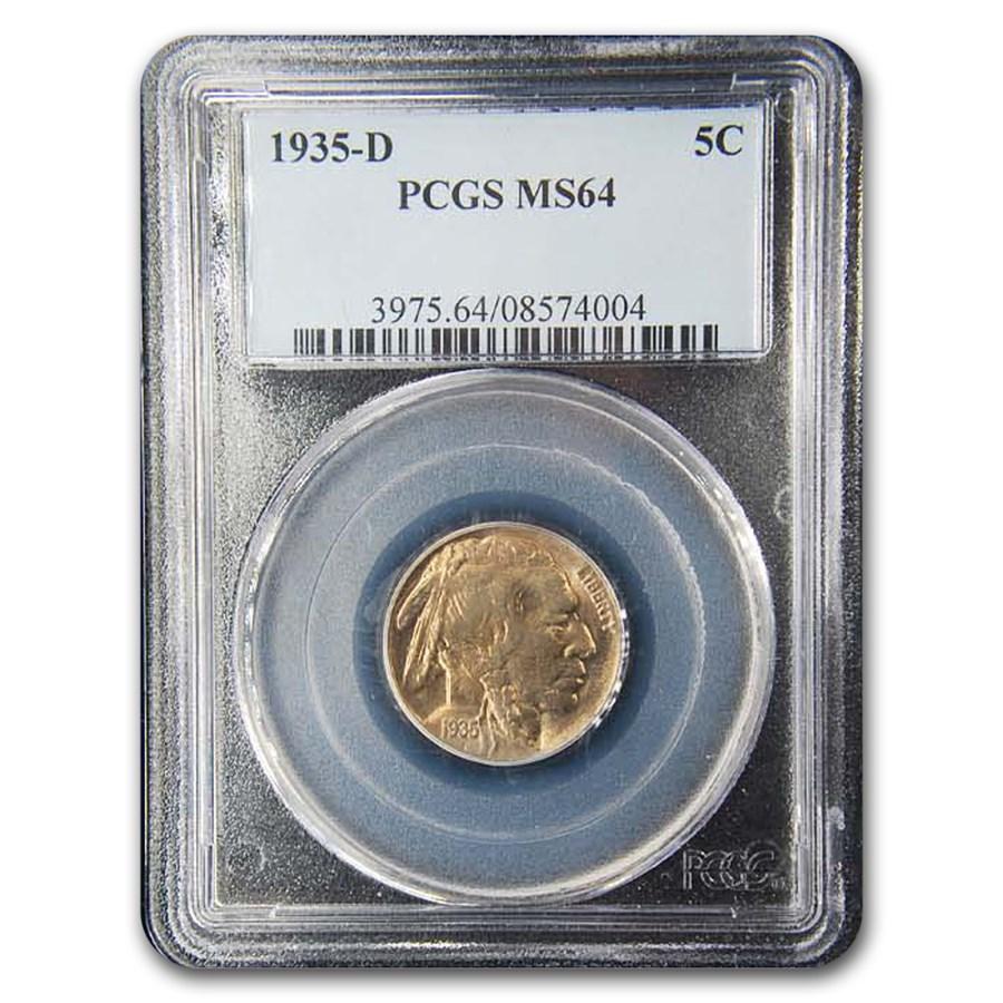 1935-D Buffalo Nickel MS-64 PCGS