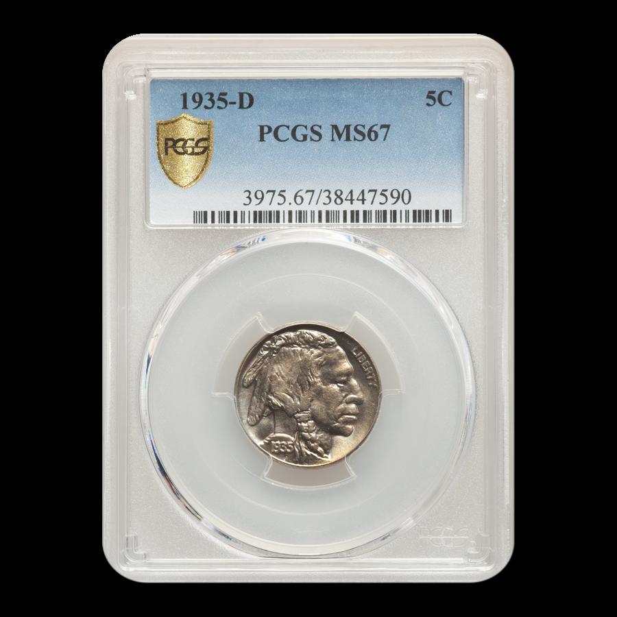 1935-D Buffalo Nickel MS-67 PCGS