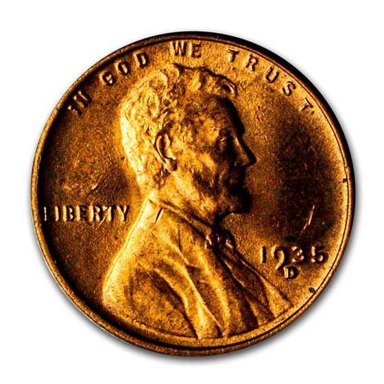 1935-D Lincoln Cent BU (Red)