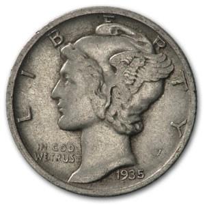 1935-D Mercury Dime XF