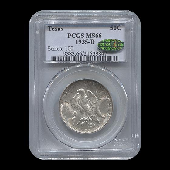 1935-D Texas Independence Centennial Half Dollar MS-66 PCGS CAC