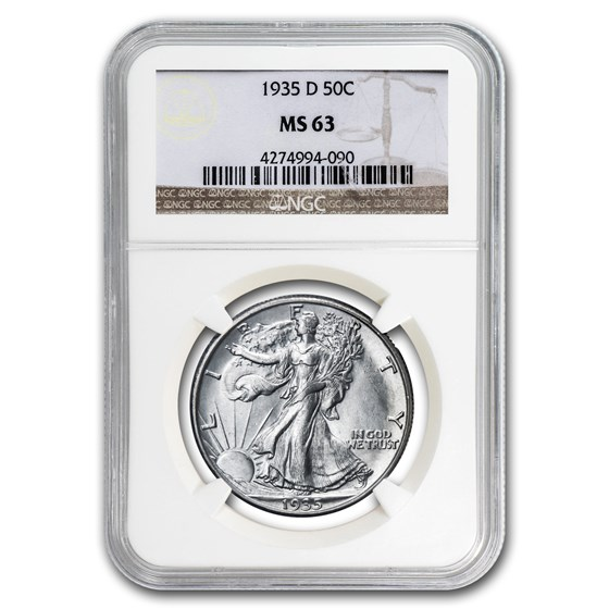 1935-D Walking Liberty Half Dollar MS-63 NGC