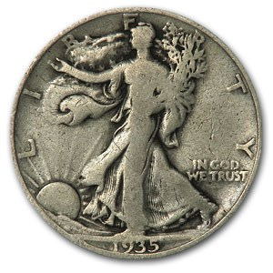 1935-D Walking Liberty Half Dollar VG/VF