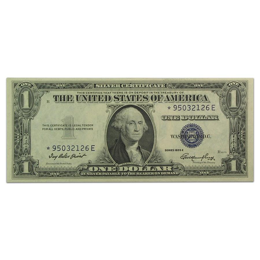 1935-E* $1.00 Silver Certificate AU