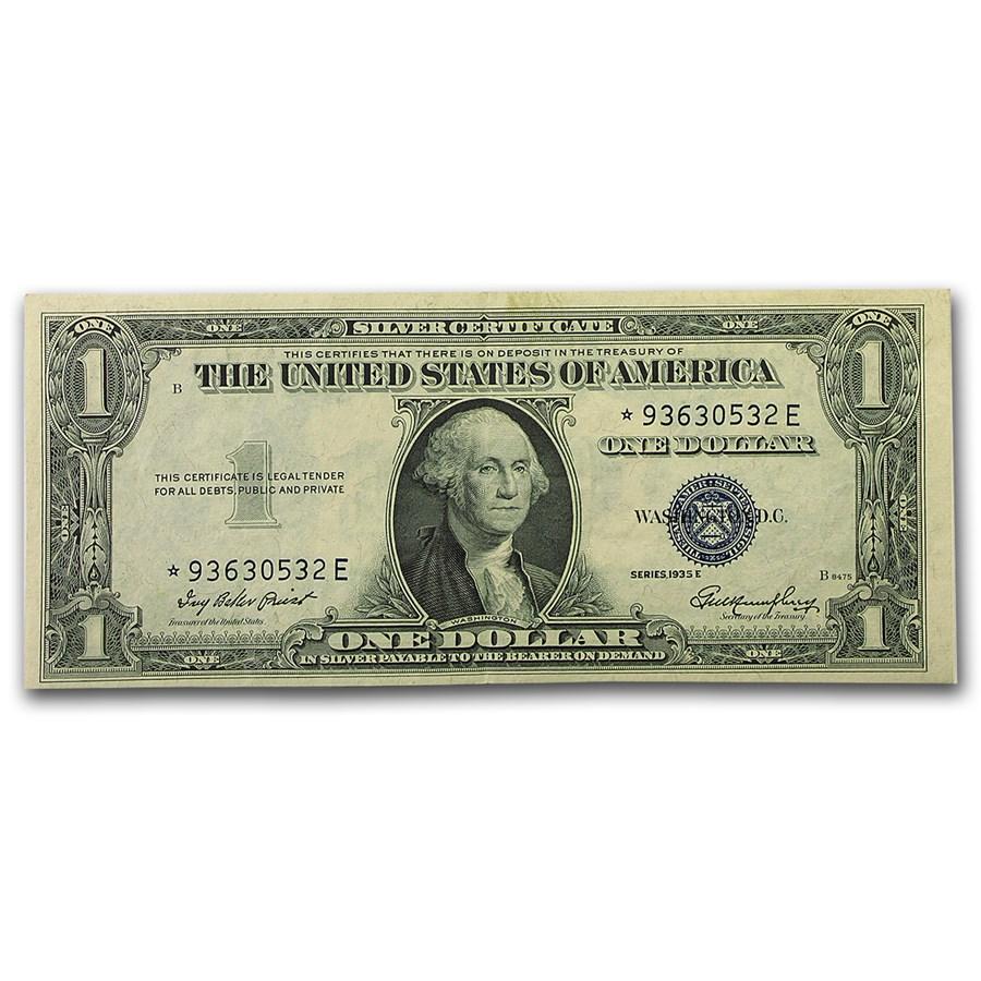 1935-E* $1.00 Silver Certificate CU (Fr#1614*) Star Note