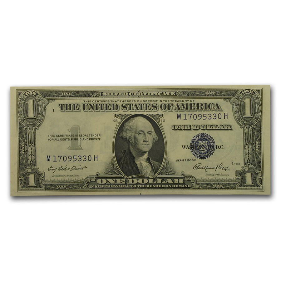1935-E $1.00 Silver Certificate CU (Fr#1614)