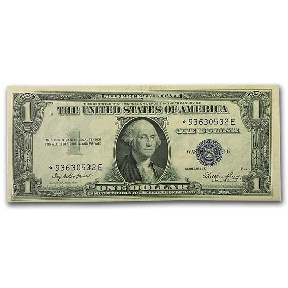 1935-E* $1.00 Silver Certificate CU (Star Note)