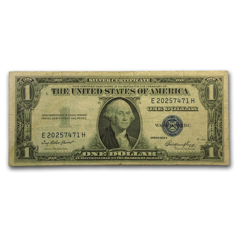 1935-E $1.00 Silver Certificate VF (Fr#1614)
