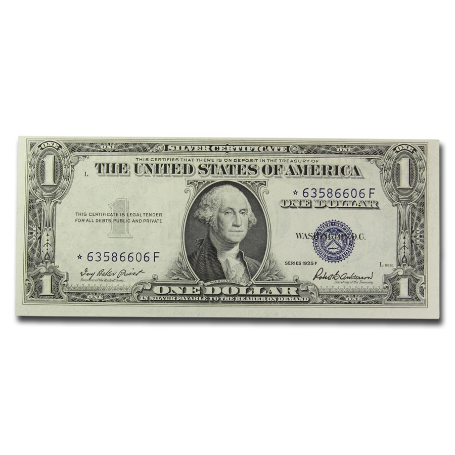 1935-F* $1.00 Silver Certificate CCU (Fr#1615*) Star Note