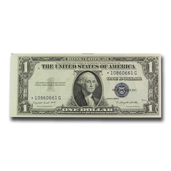 1935-G* $1.00 Silver Cert No Motto CU (Fr#1616*) Star Note