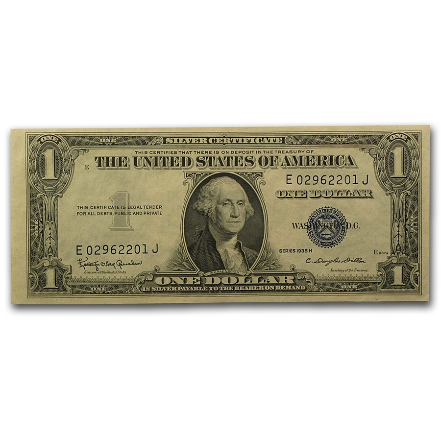 1935-H $1.00 Silver Certificate AU (Fr#1618)