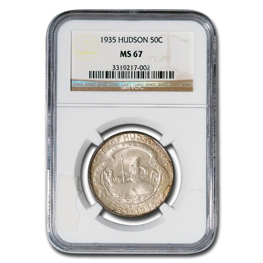 1935 Hudson Half Dollar Commem MS-67 NGC