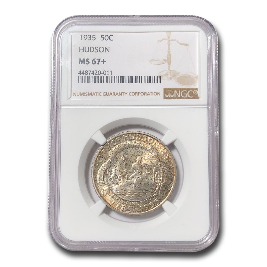 1935 Hudson Half Dollar MS-67+ NGC (Toned)