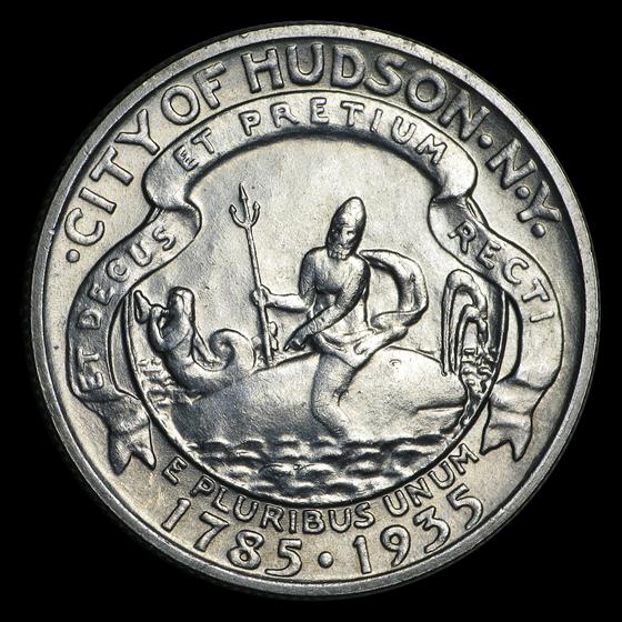 1935 Hudson NY Sesquicentennial Half Commemorative BU