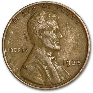 1935 Lincoln Cent Fine+