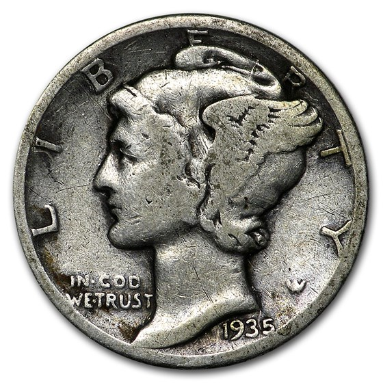 1935 Mercury Dime Good/VF