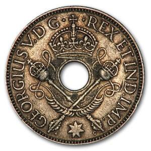 1935 New Guinea Silver Shilling George V XF