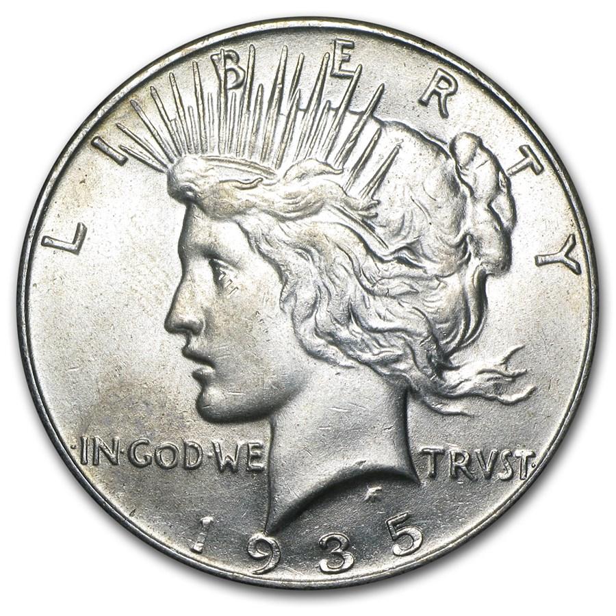 1935 Peace Dollar AU