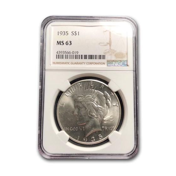 1935 Peace Dollar MS-63 NGC