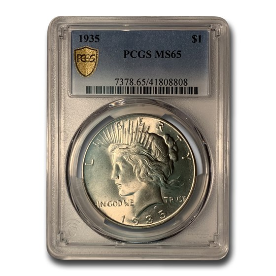 1935 Peace Dollar MS-65 PCGS