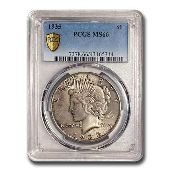 1935 Peace Dollar MS-66 PCGS