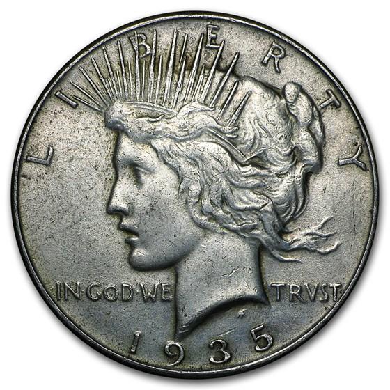 1935 Peace Silver Dollar XF