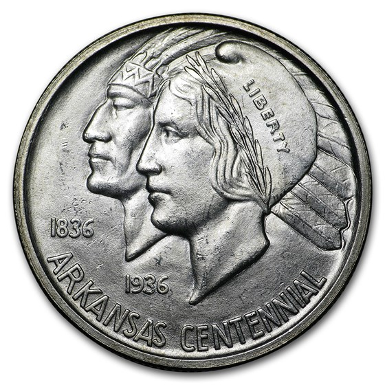1935-S Arkansas Centennial Half Dollar Commem BU