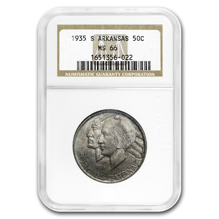 1935-S Arkansas Centennial Half Dollar MS-66 NGC