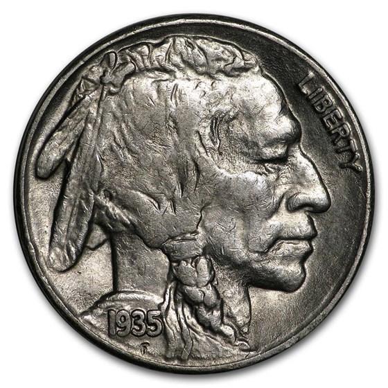 1935-S Buffalo Nickel AU