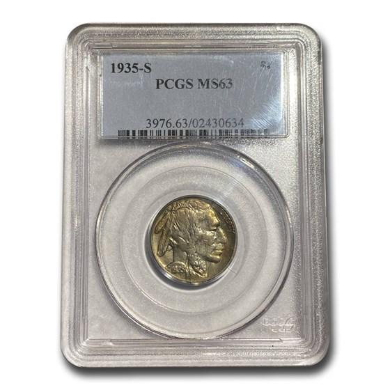 1935-S Buffalo Nickel MS-63 PCGS