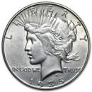 1935-S Peace Dollar AU-58