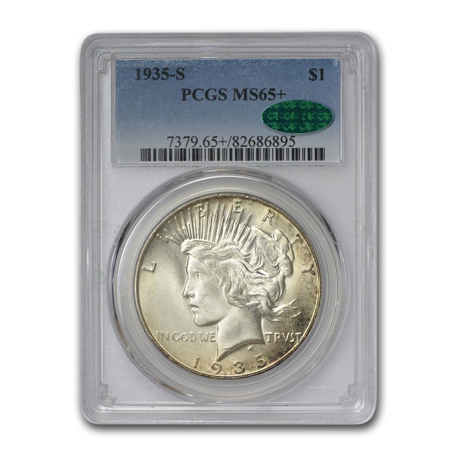 1935-S Peace Dollar MS-65+ PCGS CAC