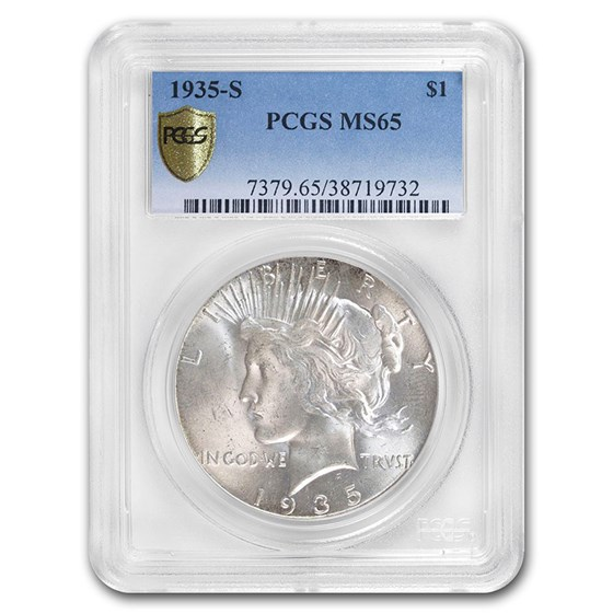 1935-S Peace Dollar MS-65 PCGS