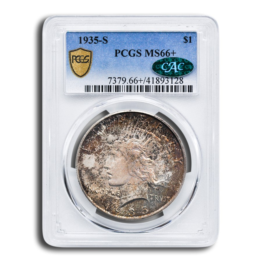 1935-S Peace Dollar MS-66+ PCGS CAC