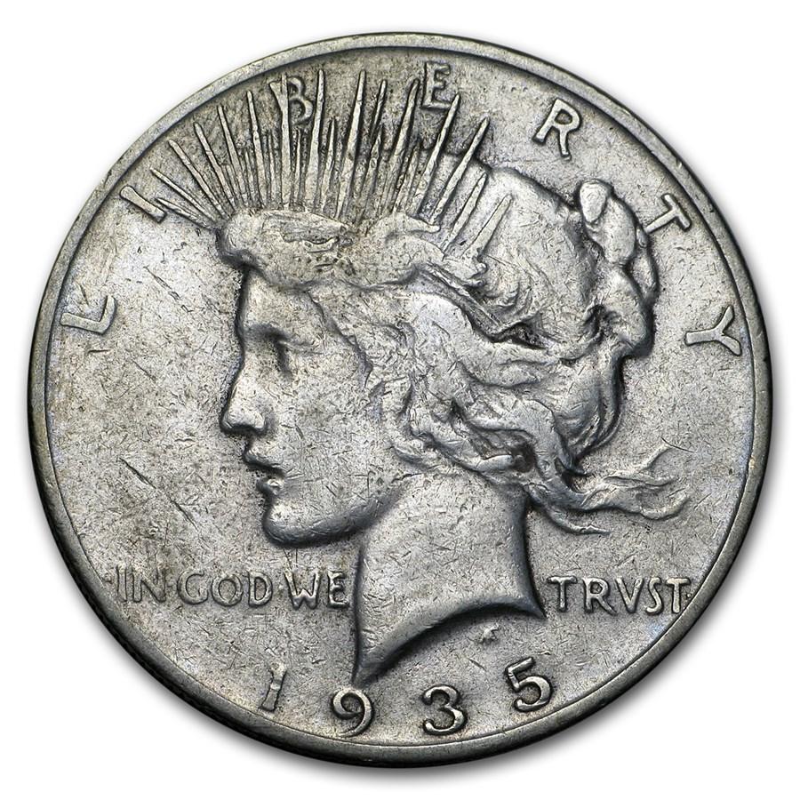 1935-S Peace Dollar VG/VF